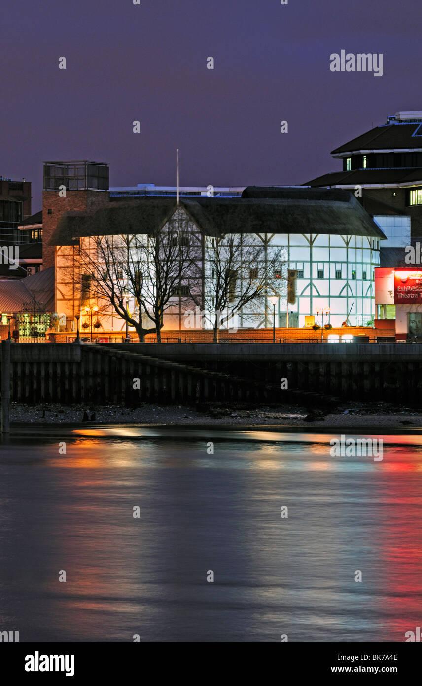 Shakespeare's Globe Theatre, New Globe Walk, Bankside, Southwark, London SE1, United Kingdom - Stock Image