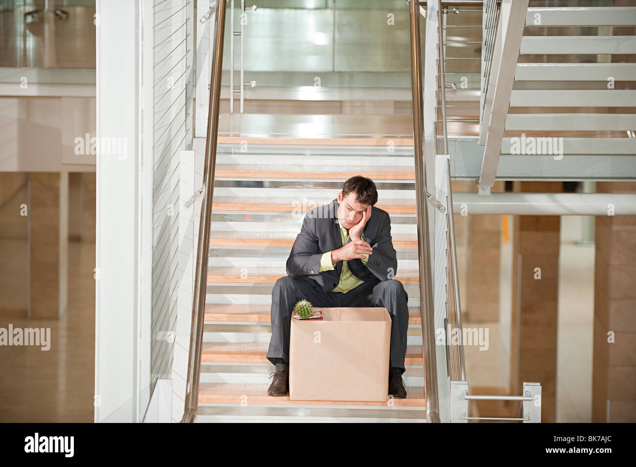 Redundant businessman - Stock Image