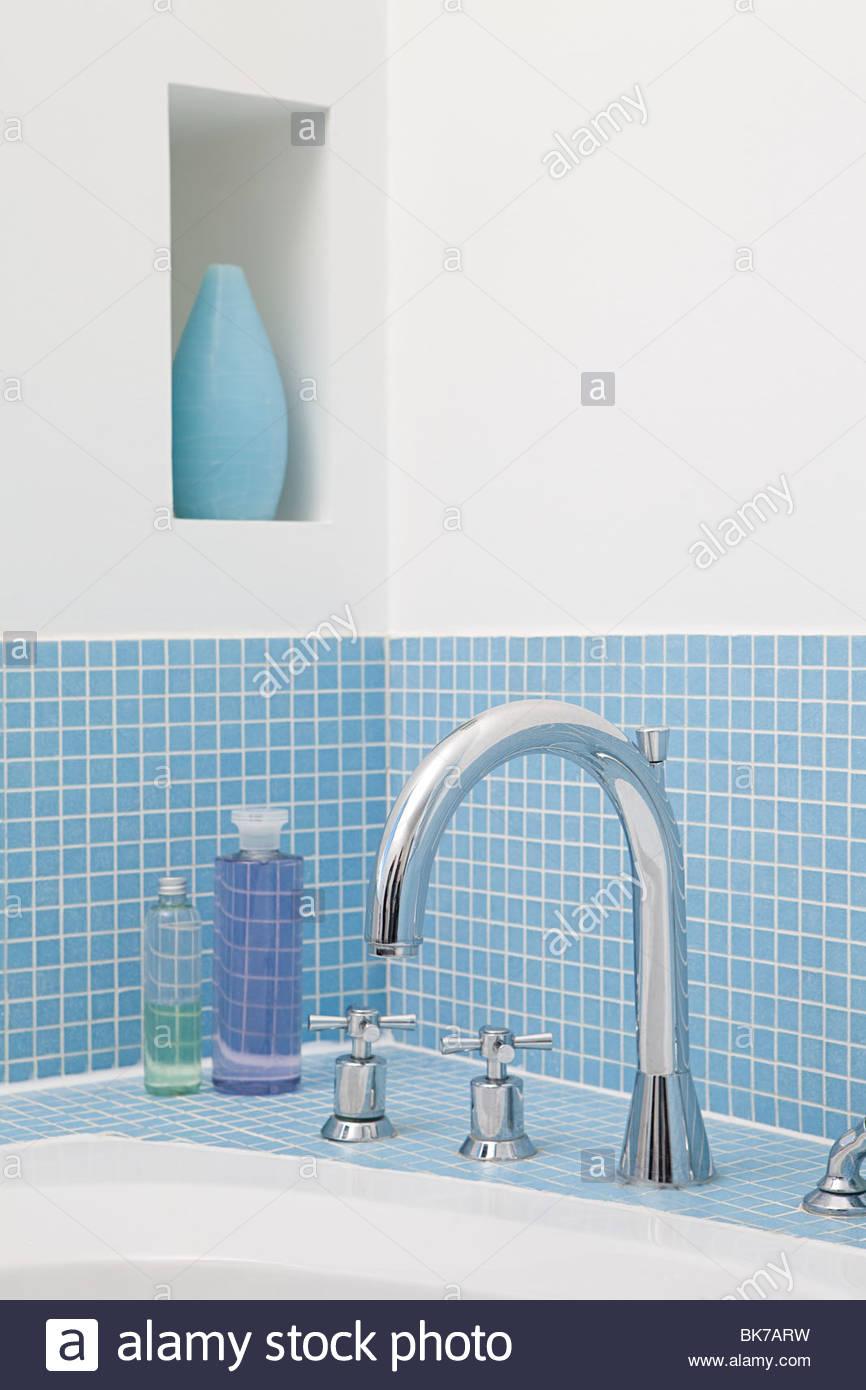 Faucet of bathtub - Stock Image