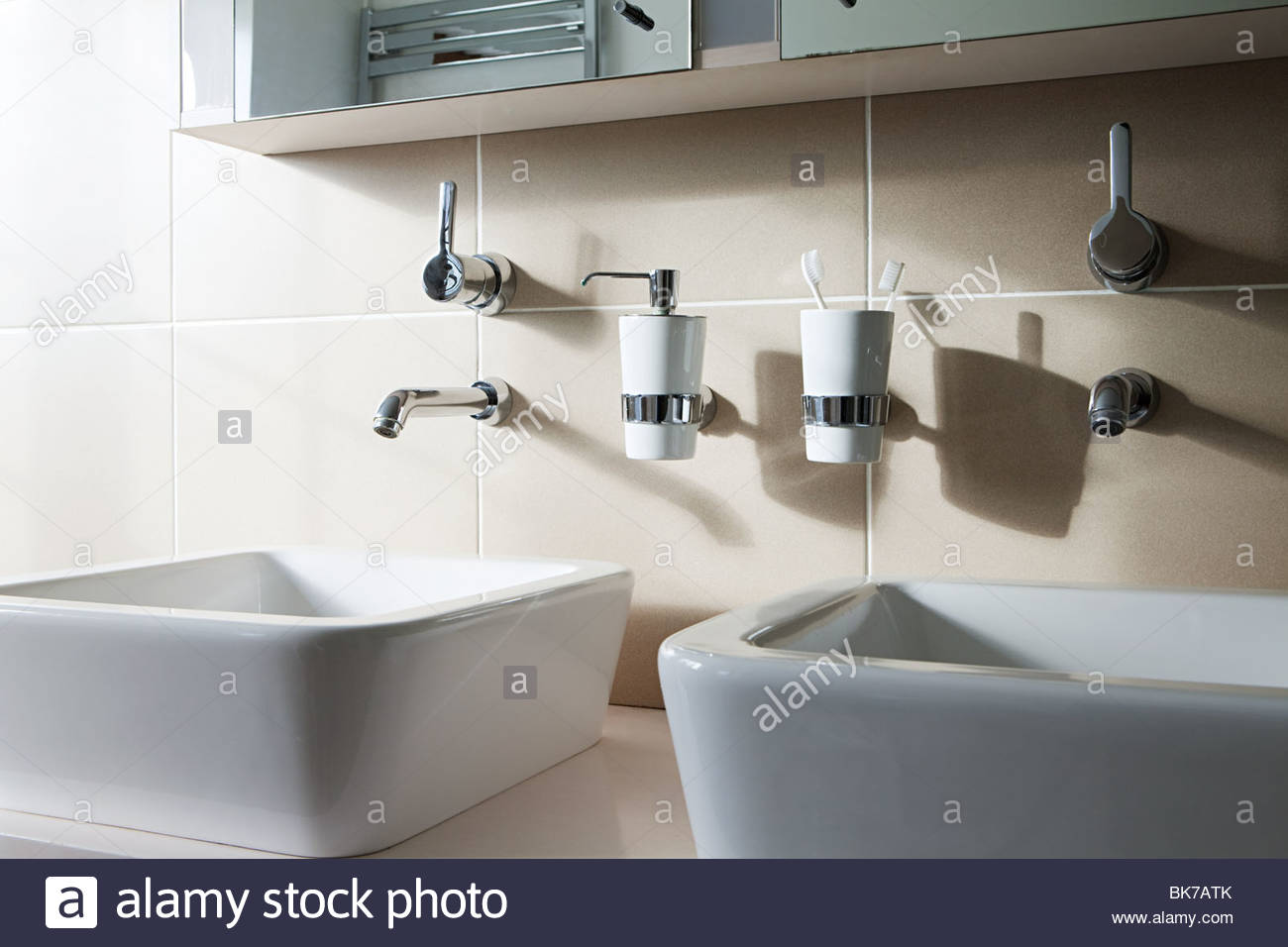 Two sinks - Stock Image