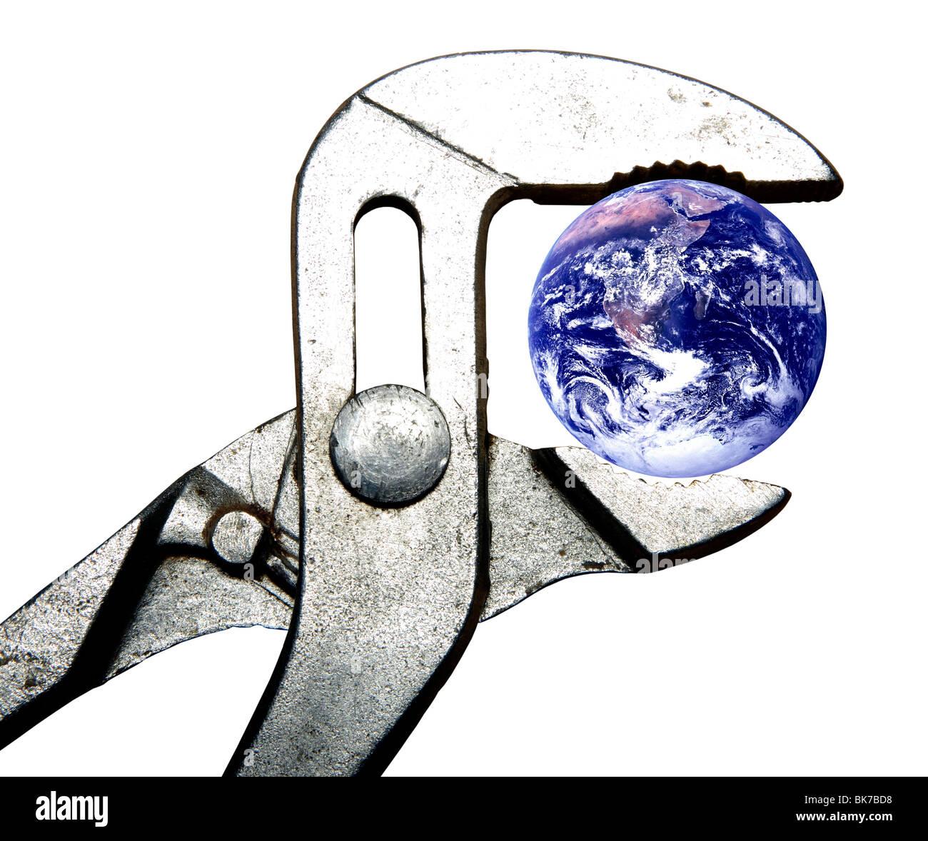 Geo-engineering,artwork Stock Photo