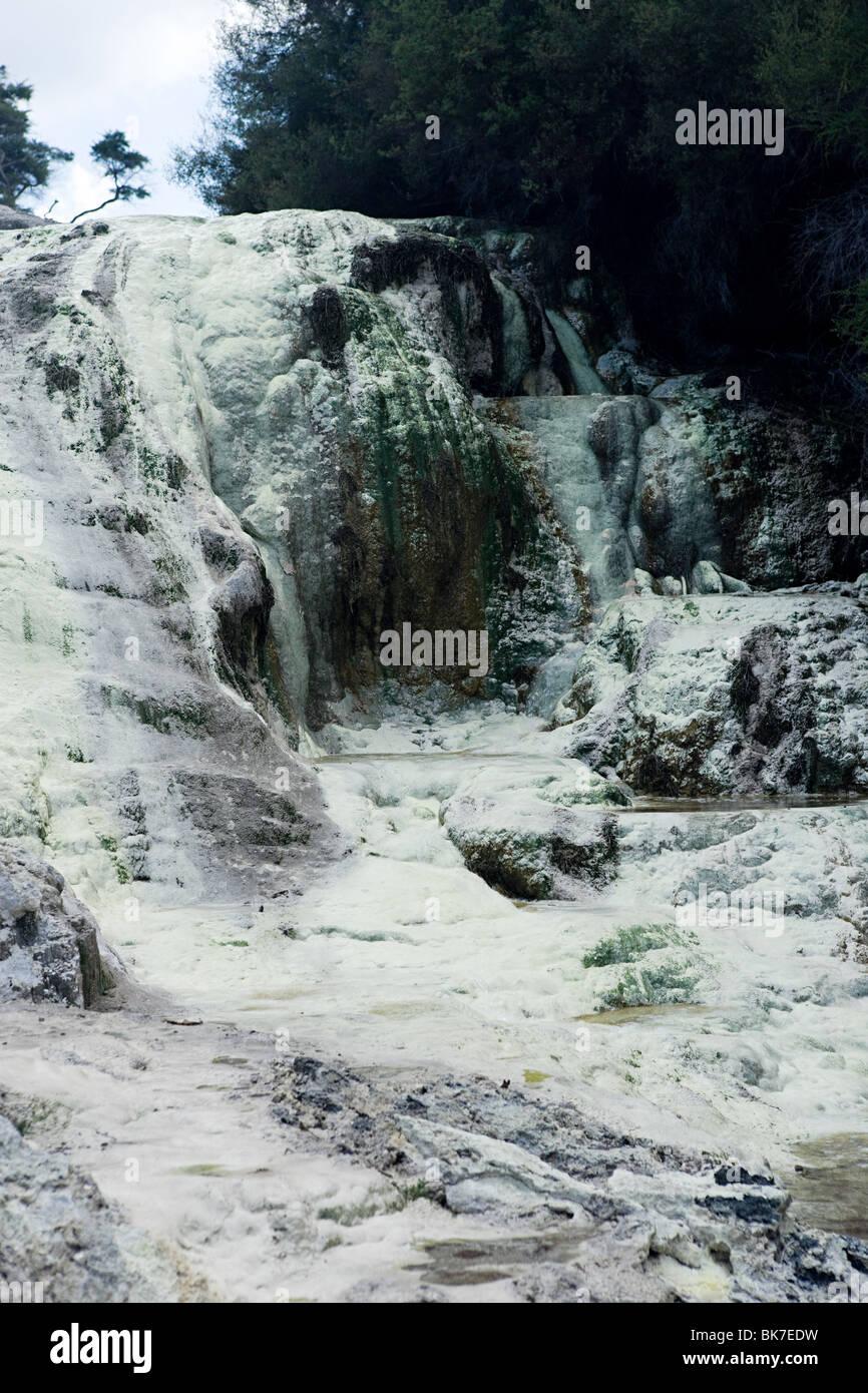 Rotorua, sulfur at Waiotapu thermal area - Stock Image