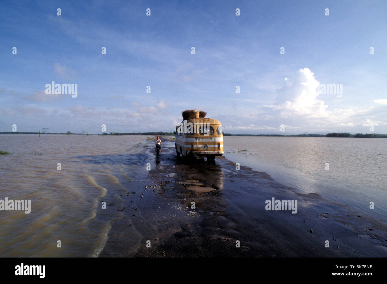Flooded countryside, Vietnam, Indochina, Southeast Asia, Asia - Stock Image