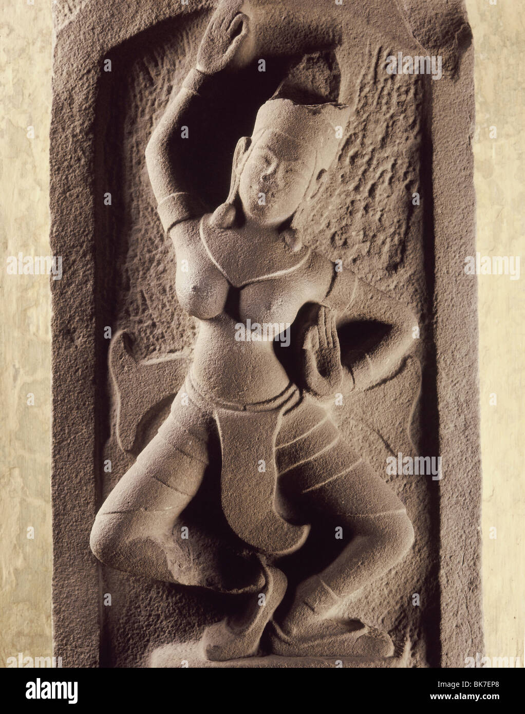Dancer, Cham Art, Thap Mam style dating from the 12th century, Cham Museum, Danang, Vietnam, Indochina, Southeast - Stock Image