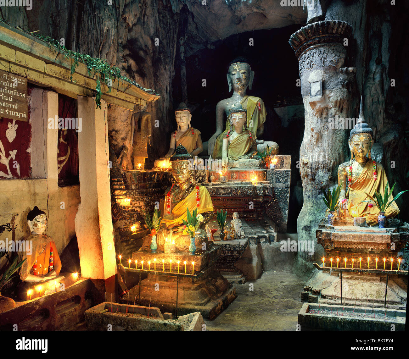 Chiang Dao Cave in Chiang Mai province, Thailand, Southeast Asia, Asia - Stock Image