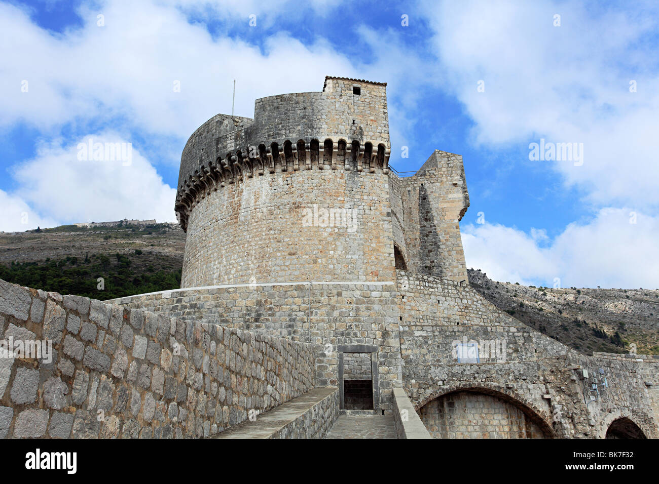Minceta tower in dubrovnik fortress Stock Photo