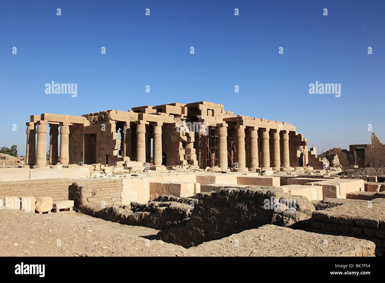 Ramesseum temple egypt - Stock Image