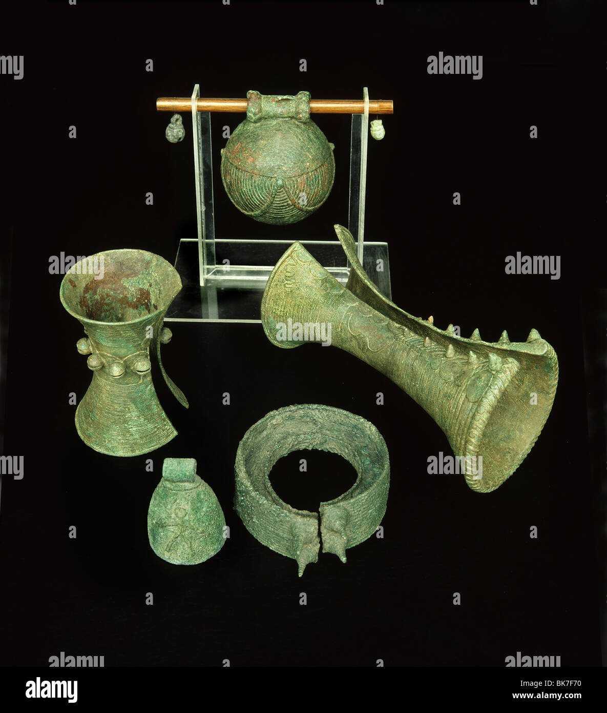 Ban Chiang bronzes, Suan Pakaad Museum, Bangkok, Thailand, Southeast Asia, Asia&#10, - Stock Image