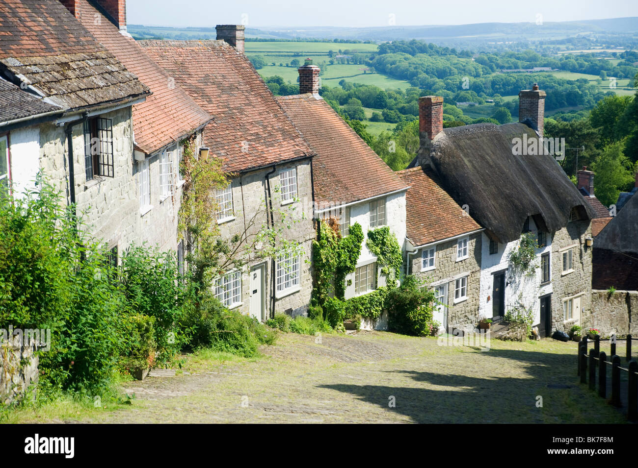 Gold hill in shaftesbury Stock Photo