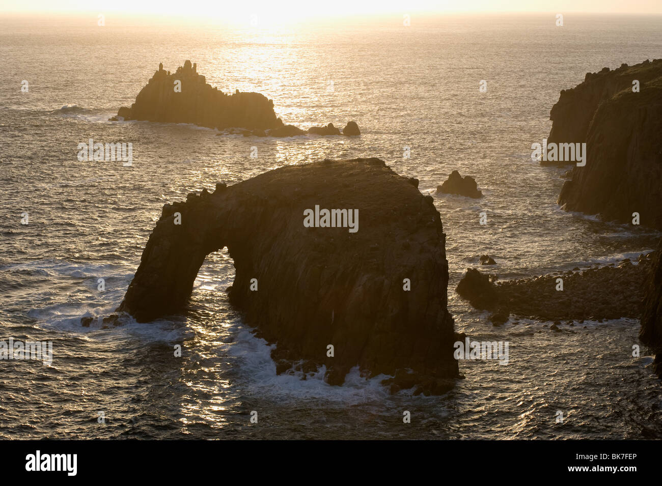 Lands end in cornwall - Stock Image