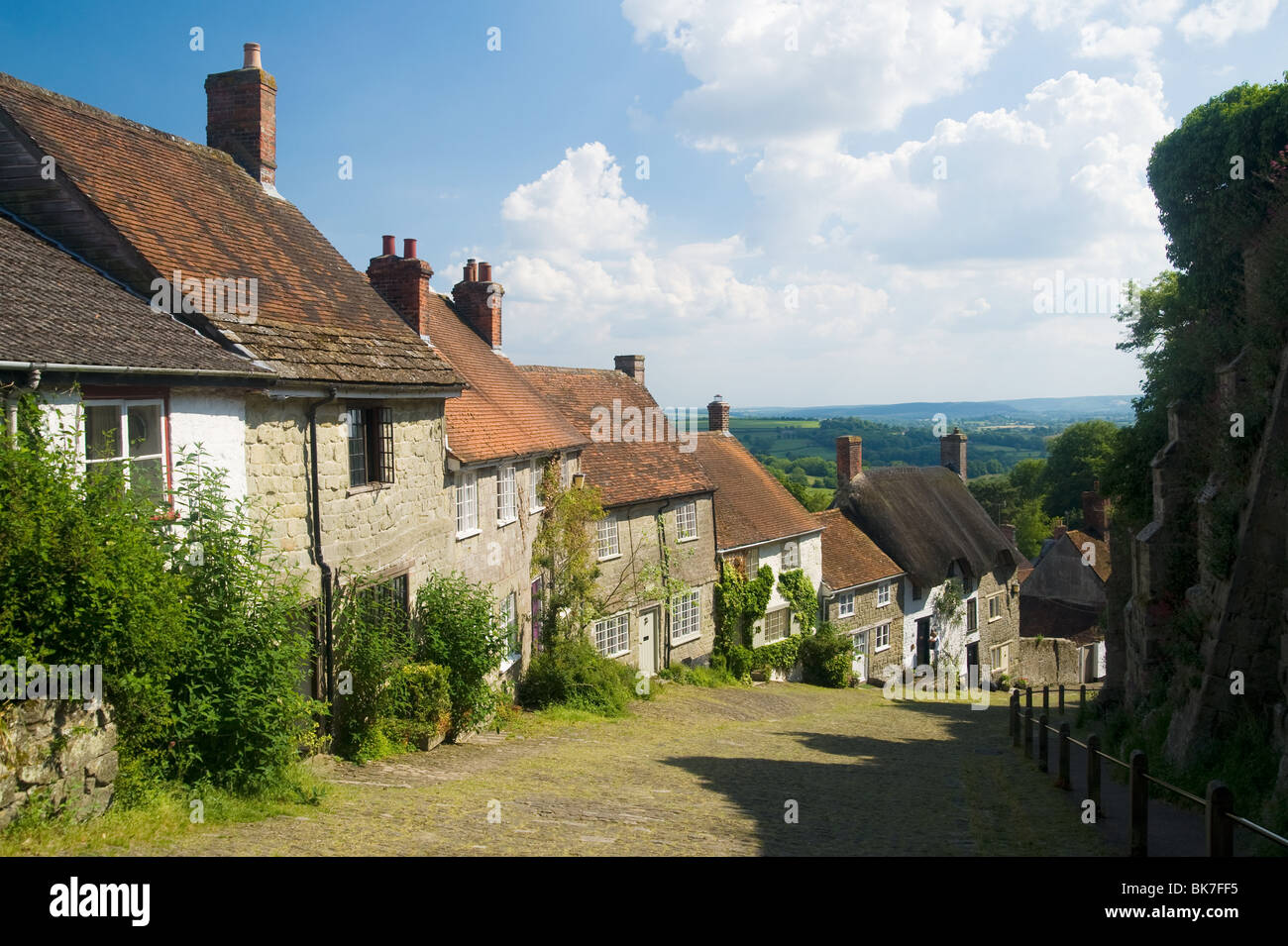 Gold hill in shaftesbury - Stock Image