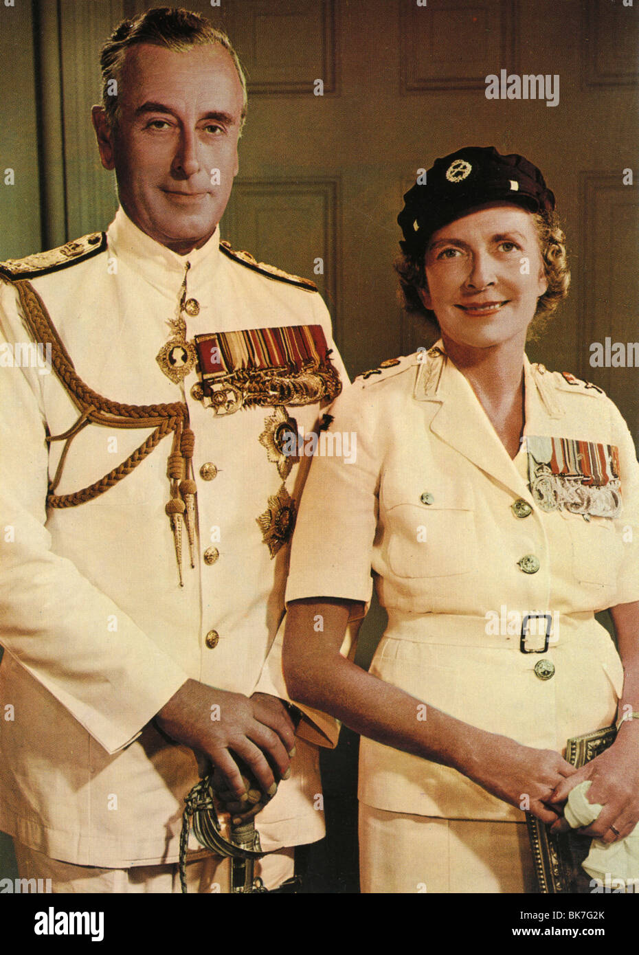 LORD  MOUNTBATTEN - English naval commander and startesman with his wife Edwina - Stock Image