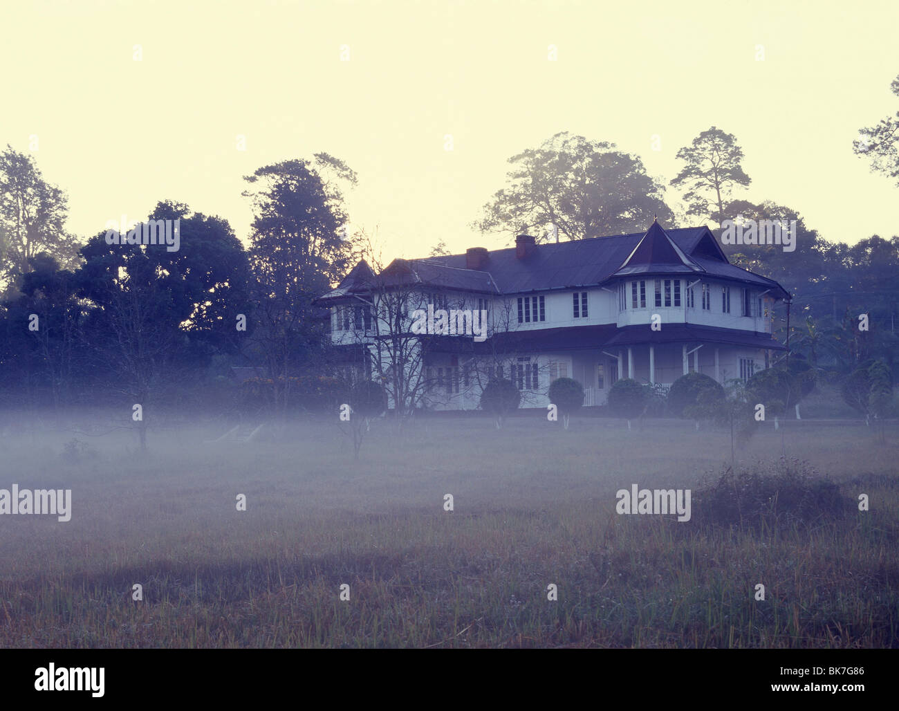 British colonial villa in the hill station of Maymyo, Myanmar (Burma), Asia - Stock Image