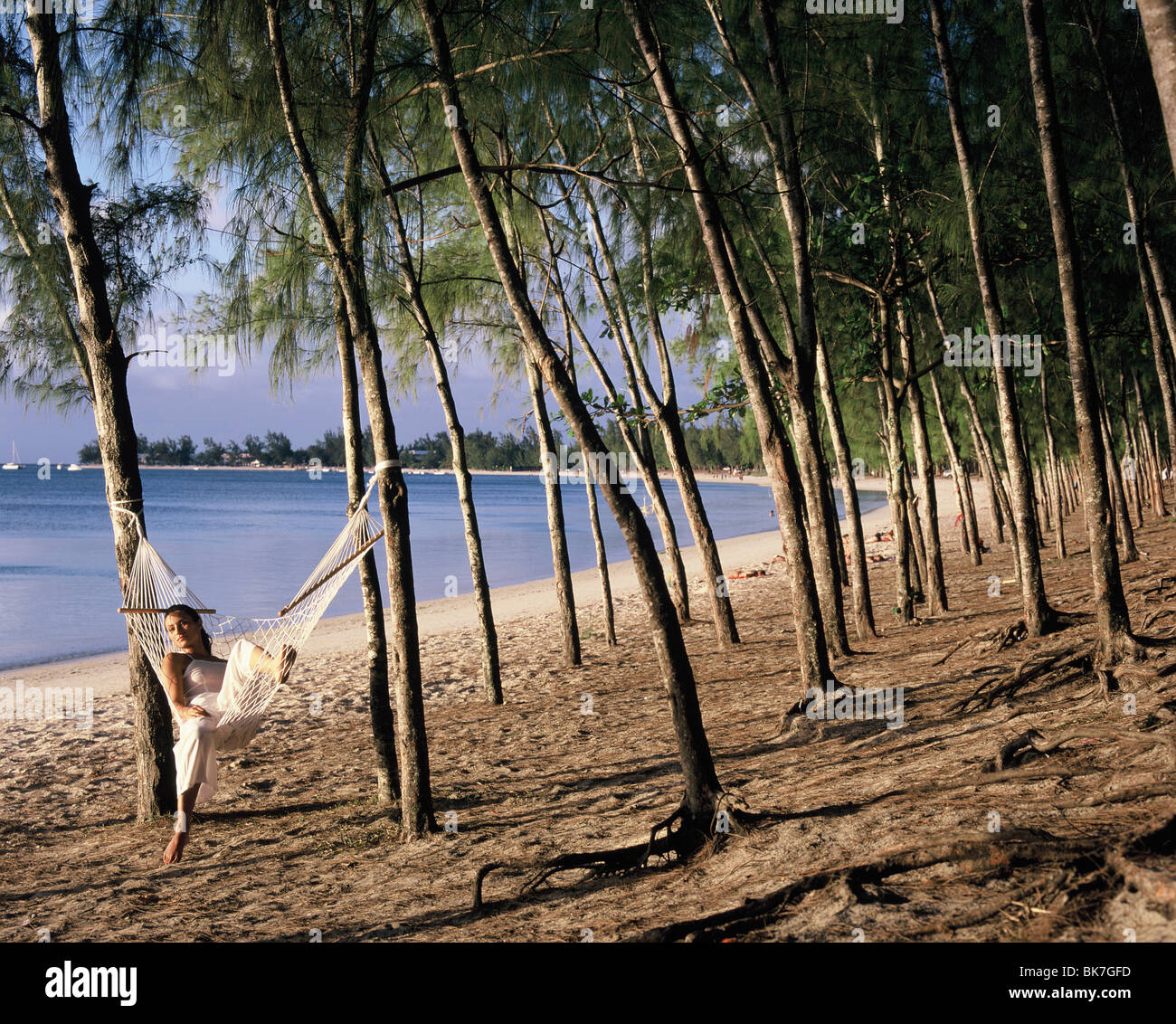 Beach near La Pointe Aux Canonniers in Mauritius, Indian Ocean, Africa - Stock Image