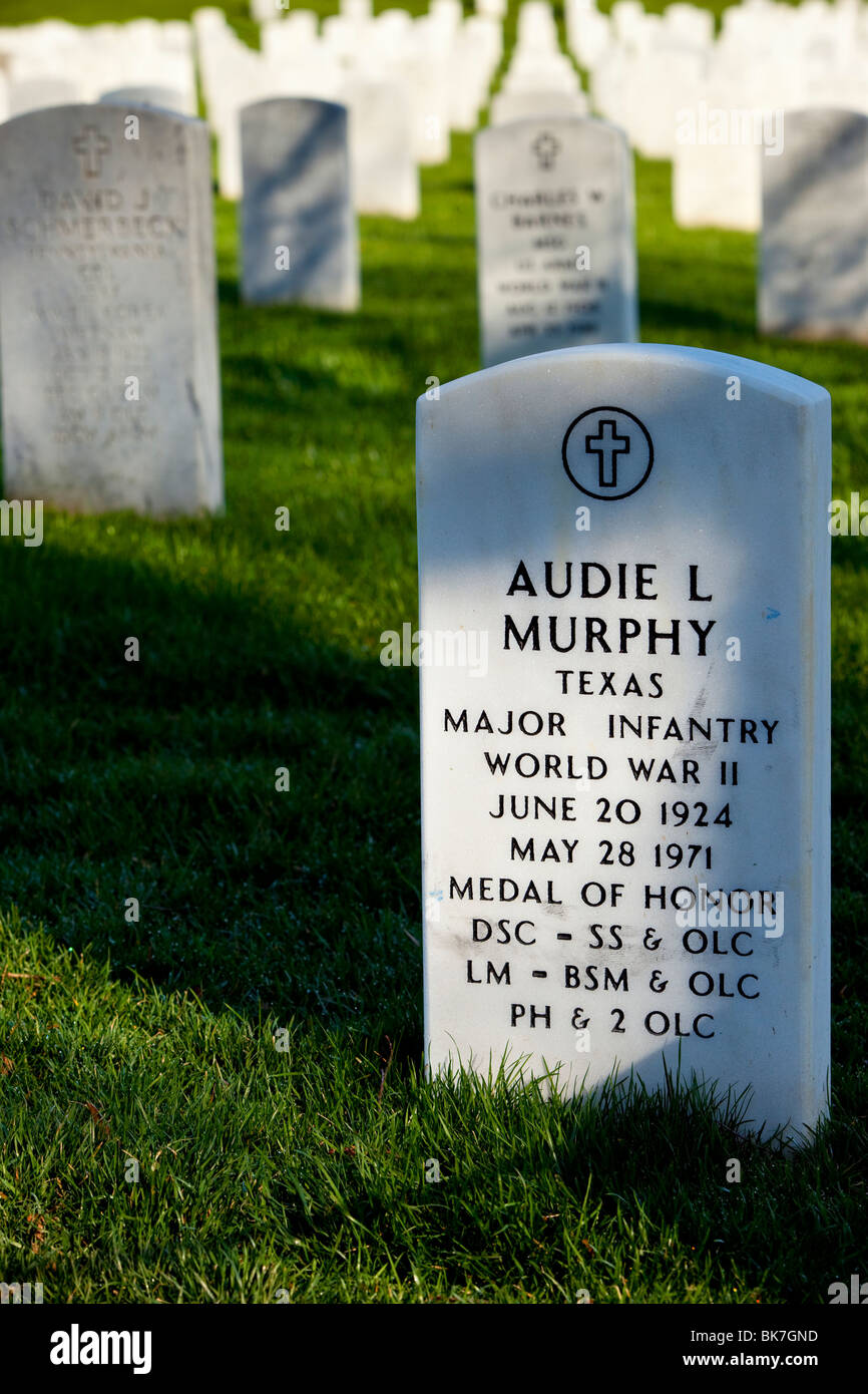 gravesite of audie murphy the most decorated american soldier in