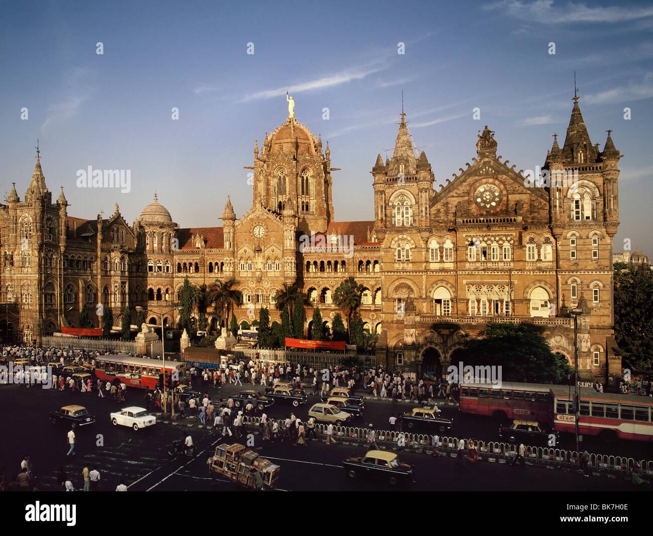 Victoria Terminus (Chhatrapati Shivaji), UNESCO World Heritage Site, Mumbai (Bombay), India, Asia - Stock Image