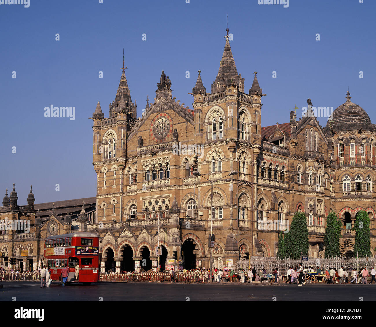 Mumbai Railway Station (Victoria Terminus) (Chhatrapati Shivaji), UNESCO World Heritage Site, India, Asia - Stock Image