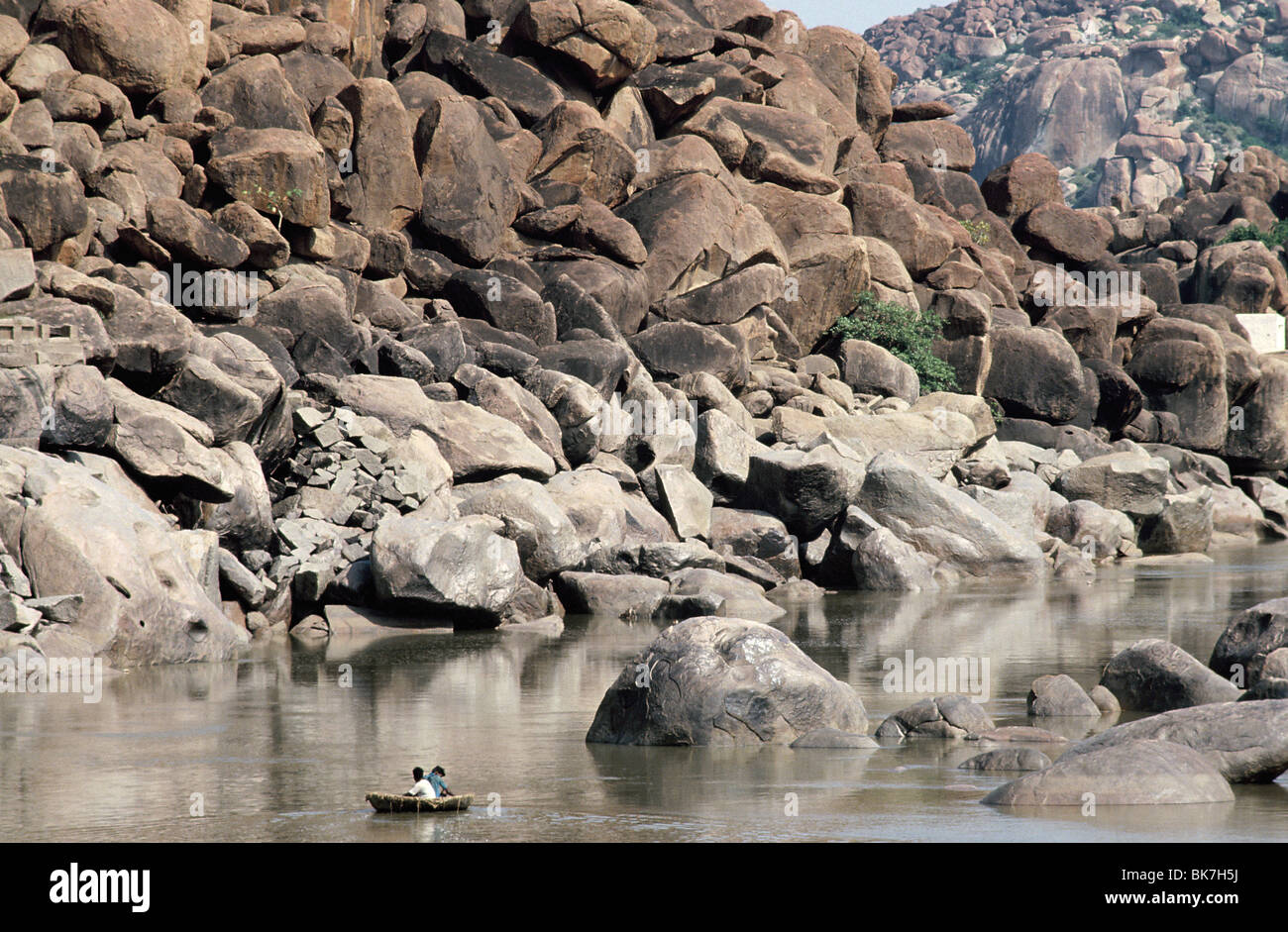 Landscape Hampi, Karnataka, India, Asia - Stock Image