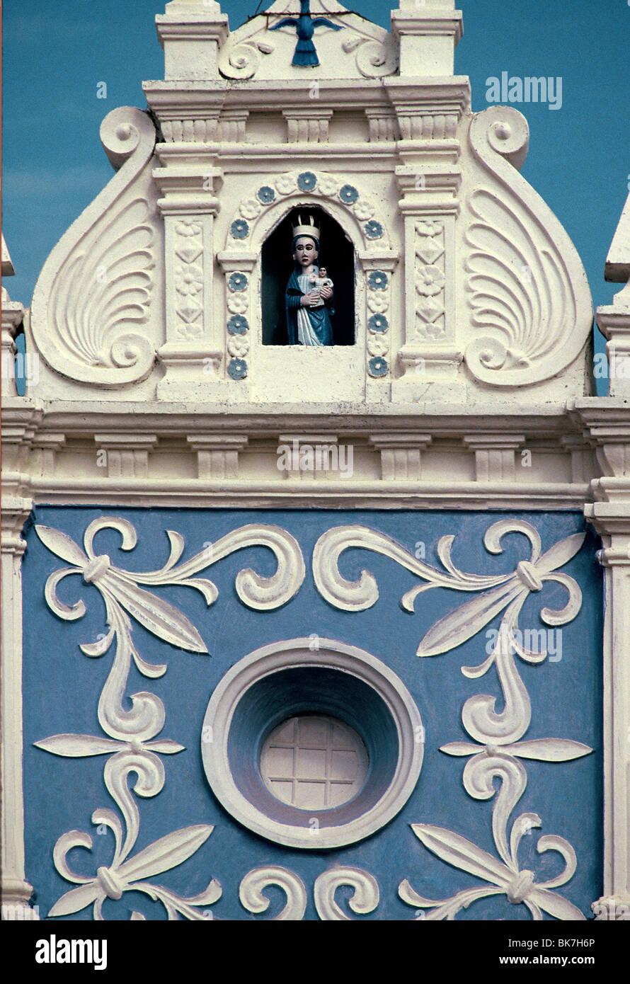 Detail of a Church facade. Goa, India, Asia - Stock Image