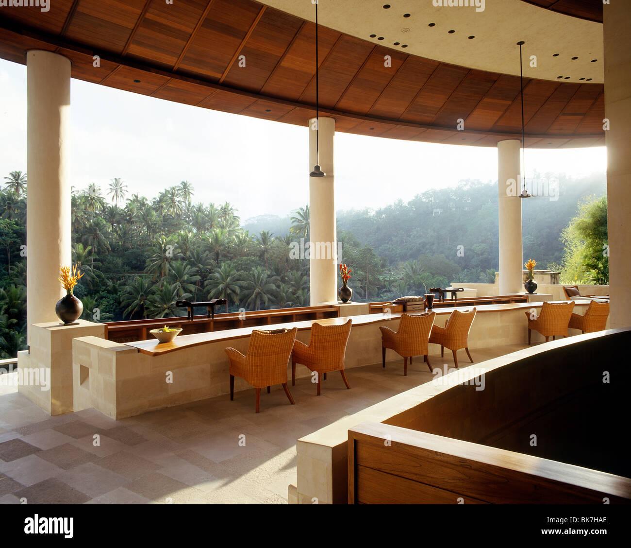 Lobby Bar, Four Seasons Resort, Ubud, Bali, Indonesia, Southeast Asia, Asia - Stock Image