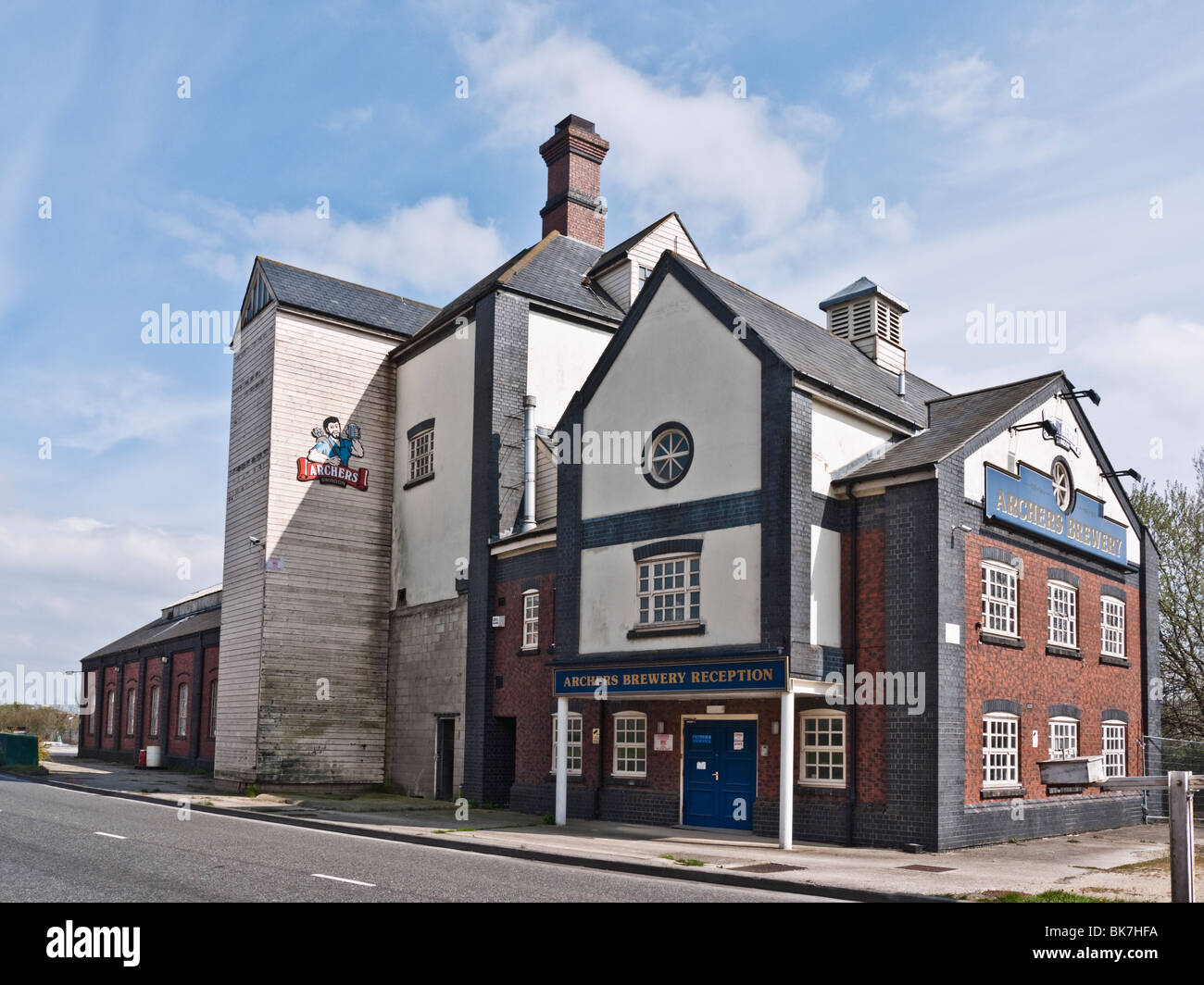 Archers brewery building, Penzance Drive, Swindon, UK. Disused 1 year after the company went into administration - Stock Image