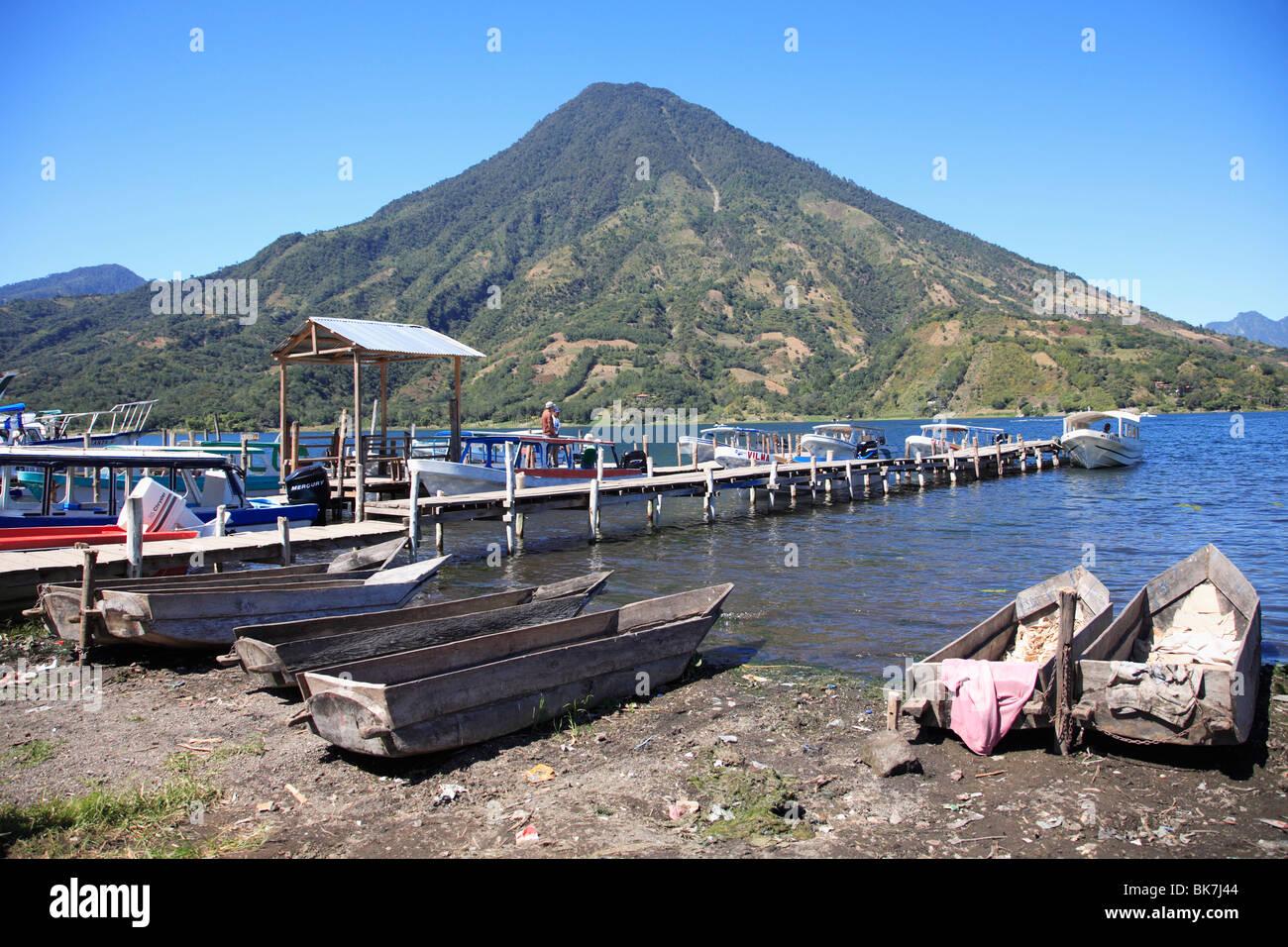 Santiago Atitlan, Lake Atitlan, Guatemala, Central America&#10, - Stock Image