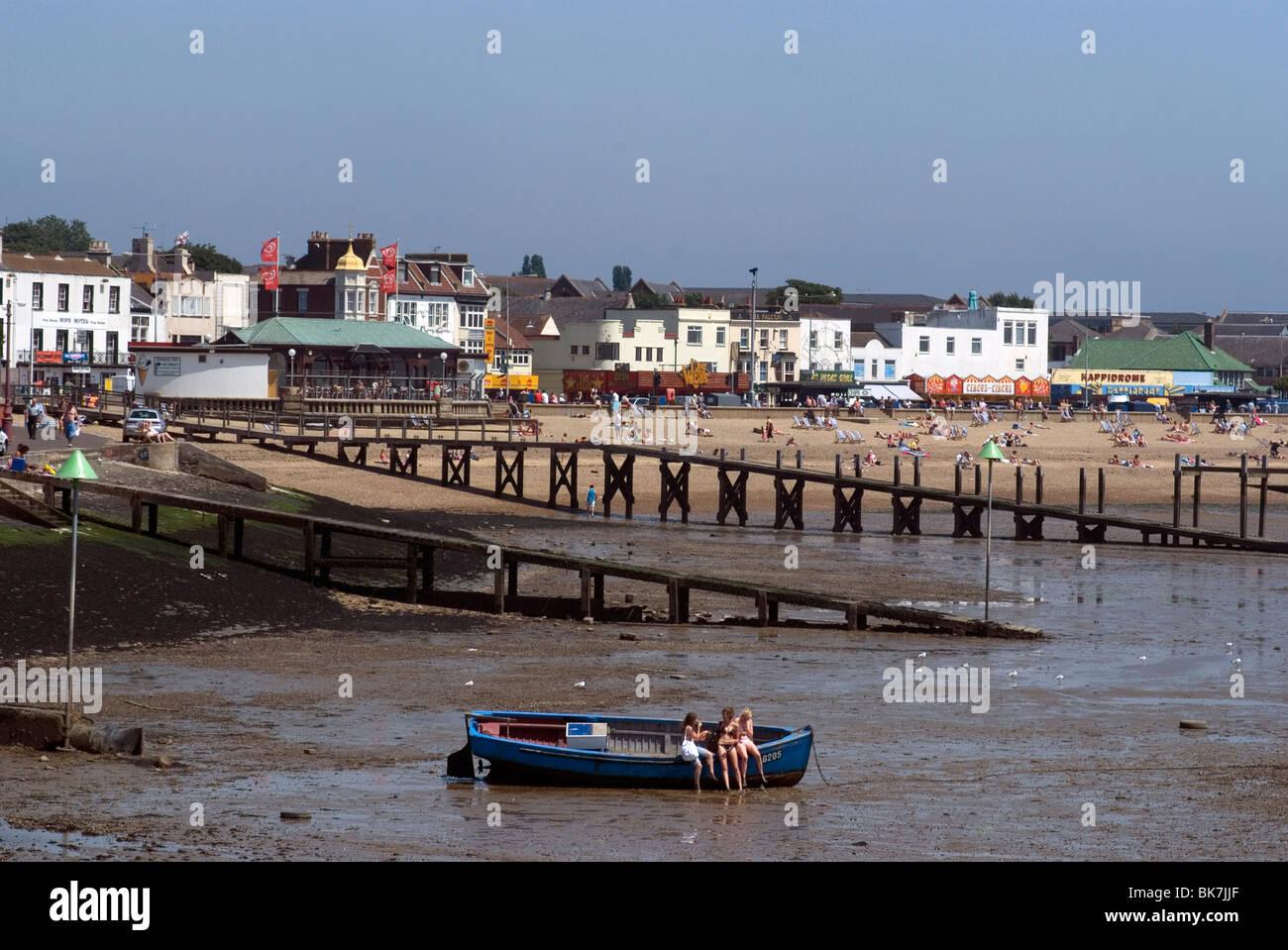 Southend Beach, Southend, Essex, England, United Kingdom, Europe - Stock Image