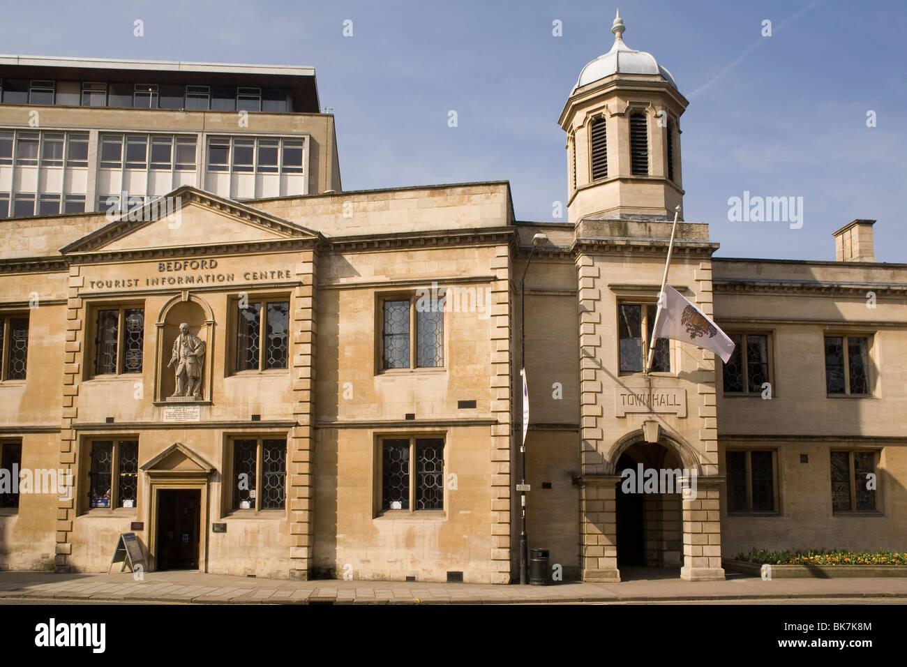 England Bedford Old Town hall - Stock Image