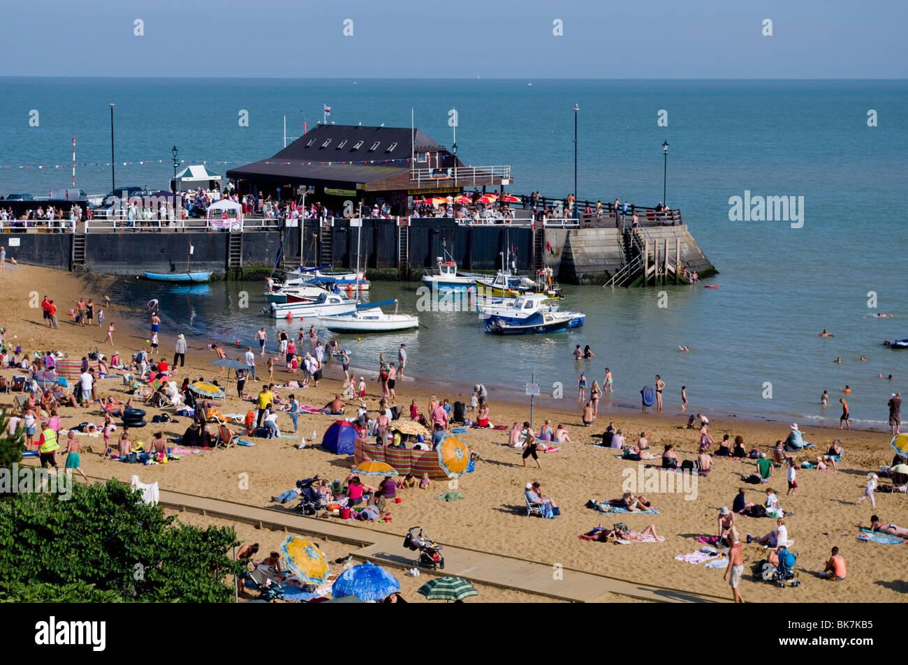 Viking Bay beach, Broadstairs, Kent, England, United Kingdom, Europe - Stock Image