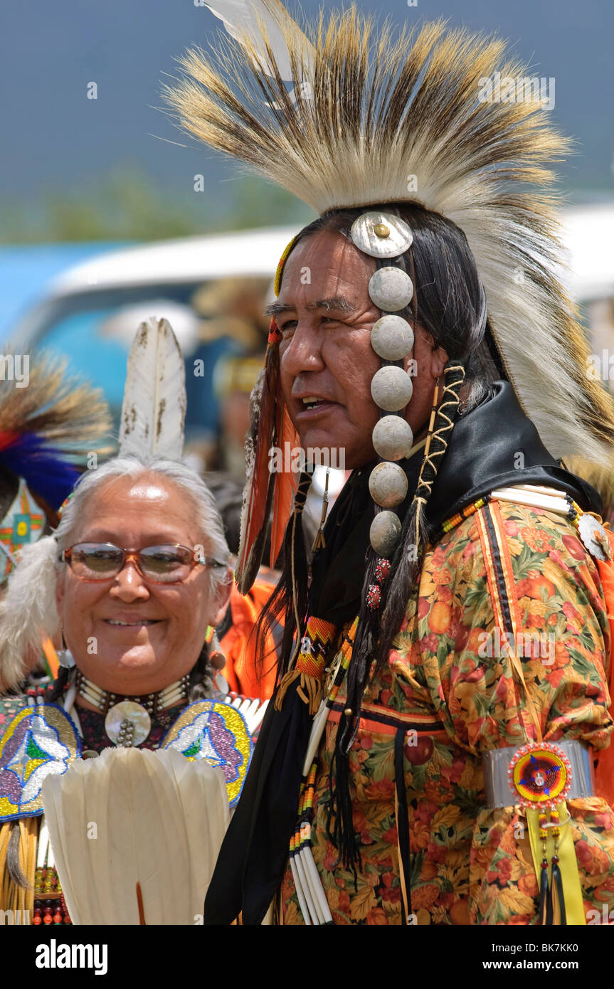 Native American Powwow, Taos, New Mexico, United States of America, North America - Stock Image