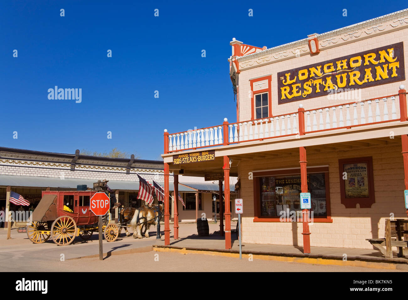 Longhorn Restaurant, Tombstone, Cochise County, Arizona, United States of America, North America - Stock Image