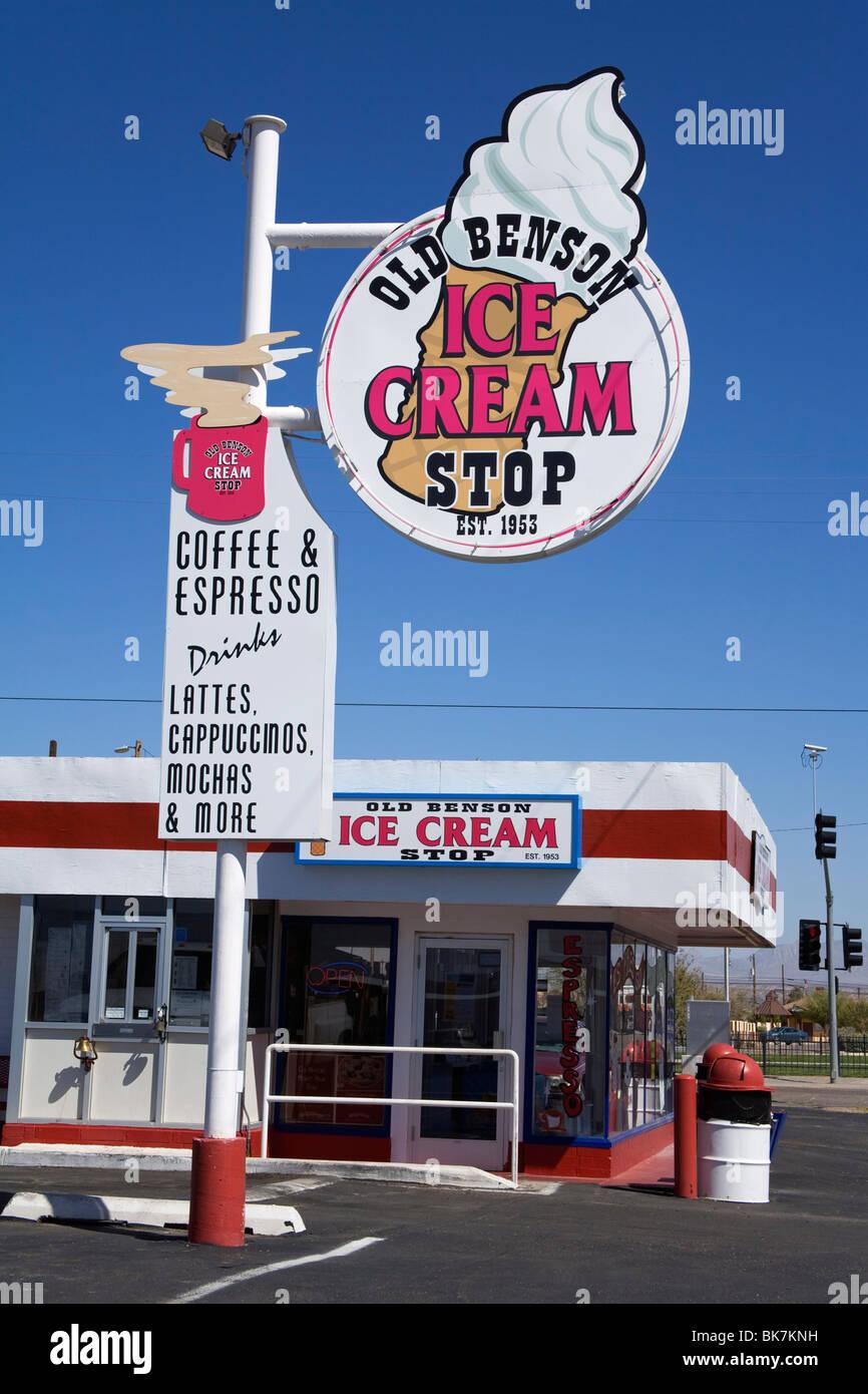 Old Benson Ice Cream Stop, Benson City, Cochise County, Arizona, United States of America, North America - Stock Image