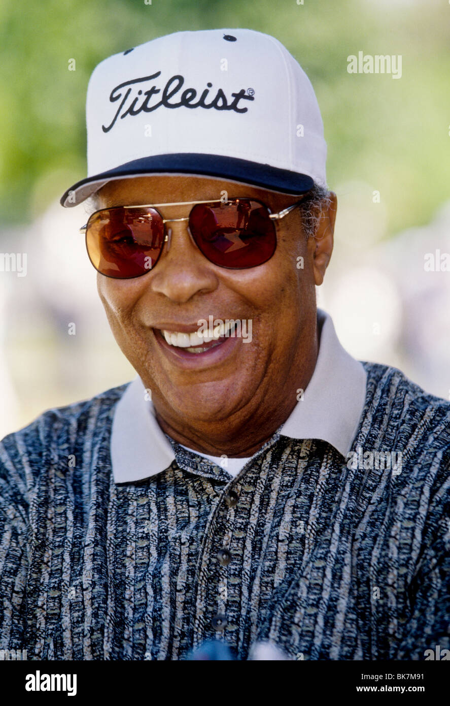 Earl Woods- Tiger's father at the 1997 Woods Foundation Clinic - Stock Image