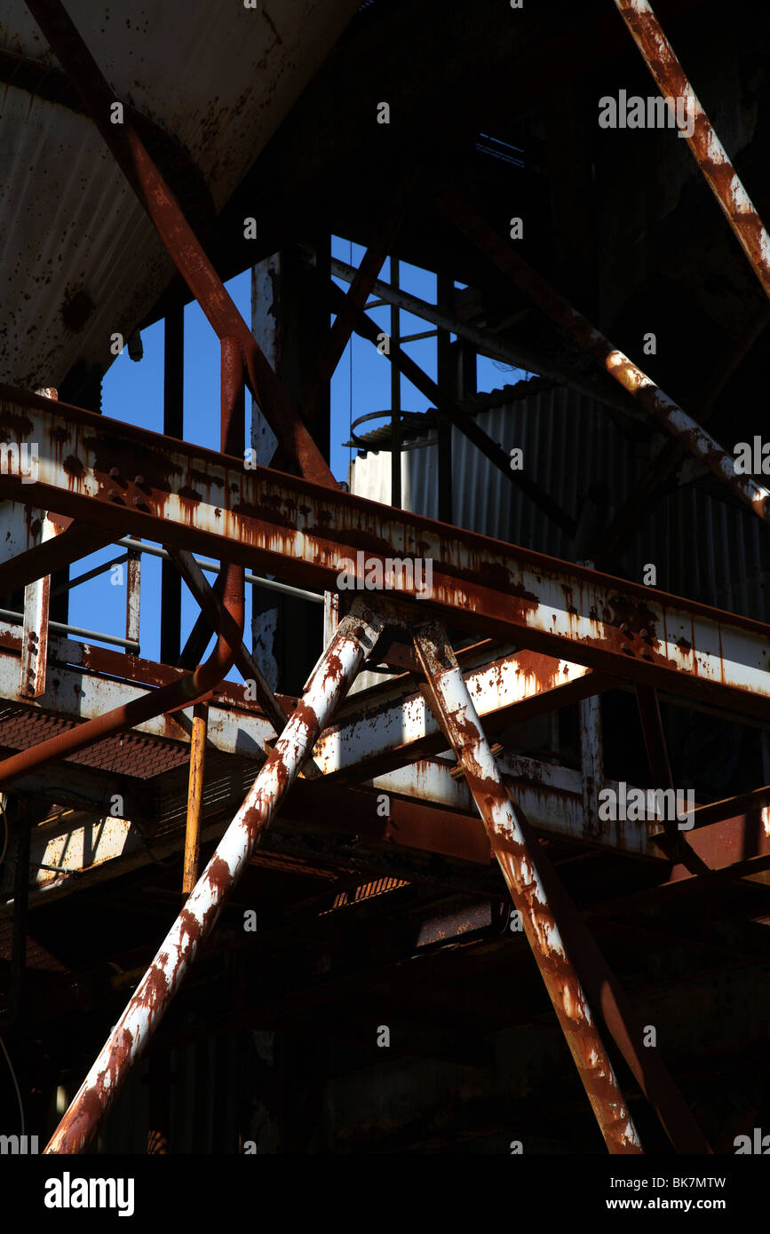 industrial wasteland - Stock Image