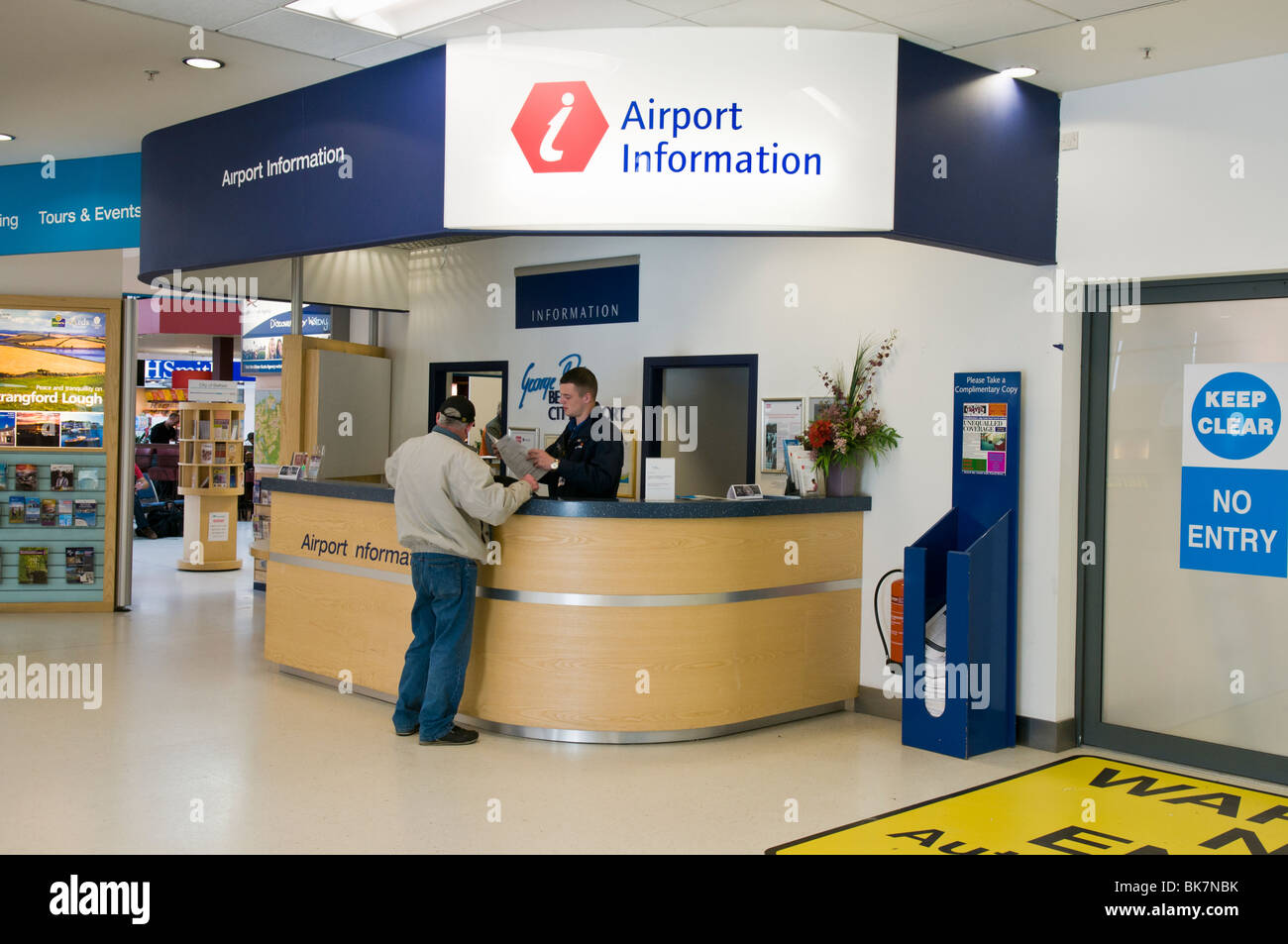 Information desk at Belfast City Airport