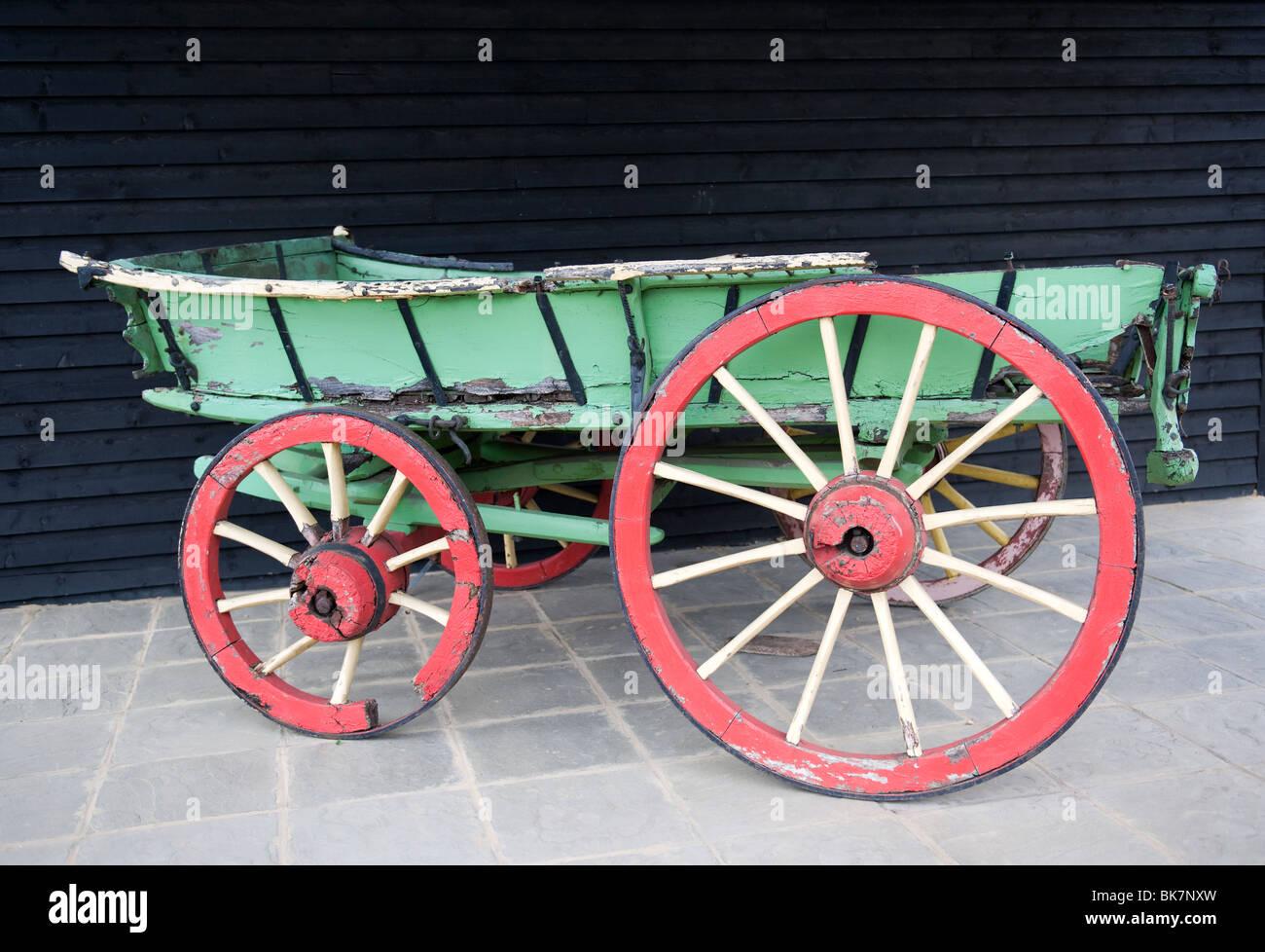 Old Horse Drawn Wagon - Stock Image