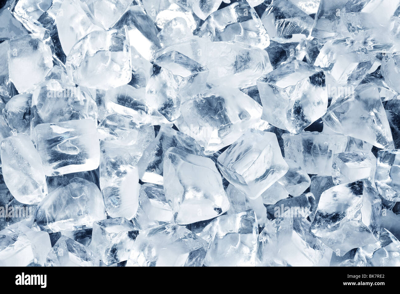 Background in the form of ice cubes - Stock Image