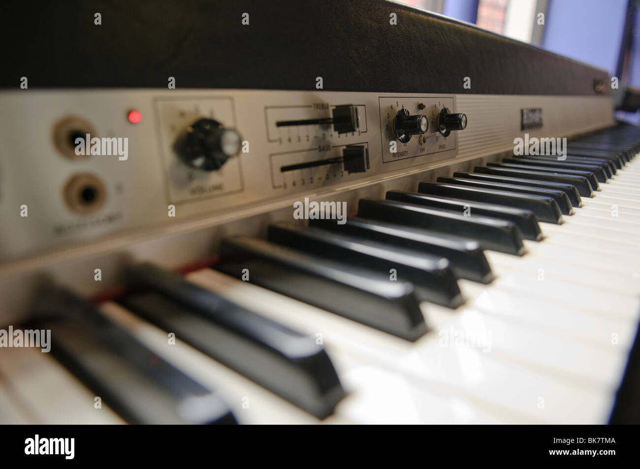 Roland Rhodes MK 80 electronic electric piano, released in 1987. - Stock Image