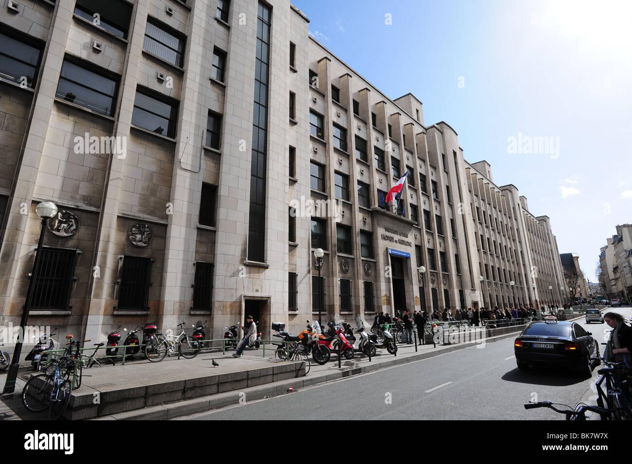 France Paris University of Paris Medical School - Stock Image