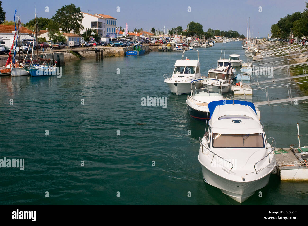 Boyardville fairway channel (Oléron Island, France) - Stock Image