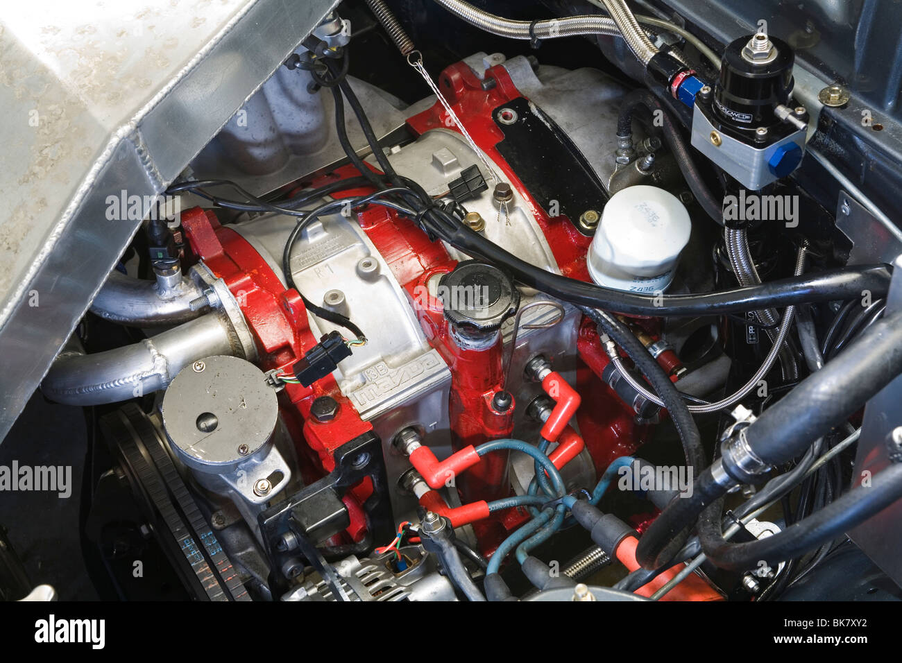 Mazda 13B rotary (el) engine in a car modified for motorsport ...