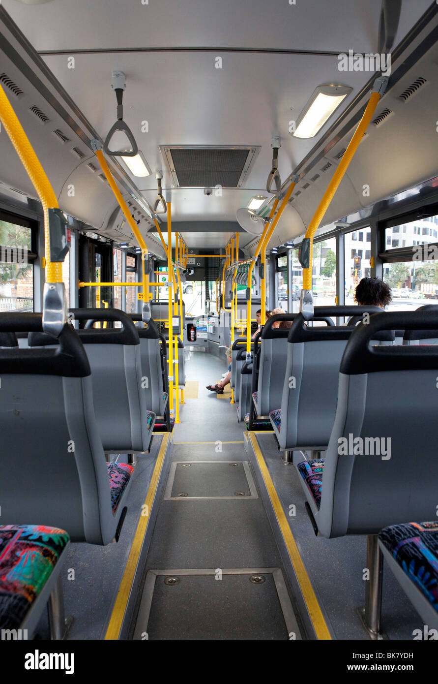 Inside of a bus. - Stock Image
