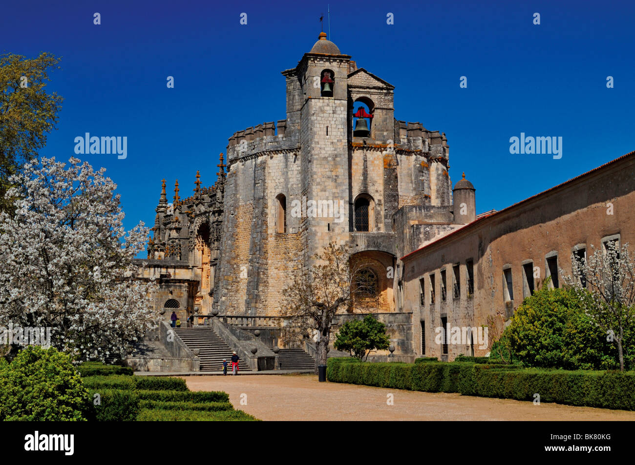 Portugal, Tomar: Former Templar church and Convent of the Order of Christ - Stock Image