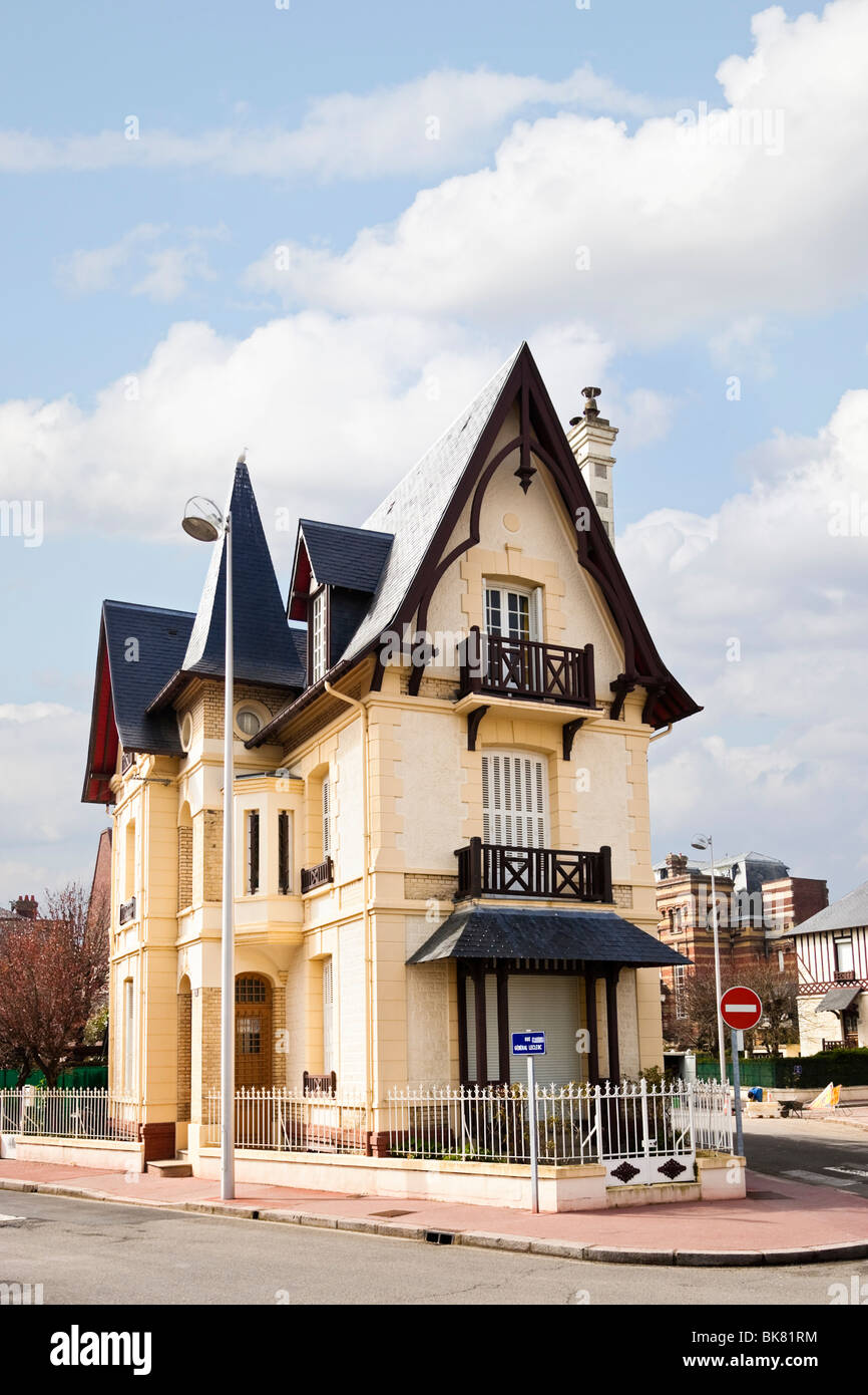 Traditional French Normandy House Architecture In Deauville France