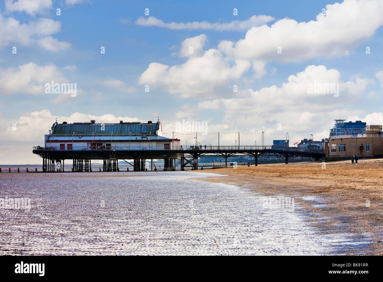 Traditional Pier at Cleethorpes, UK - Stock Image