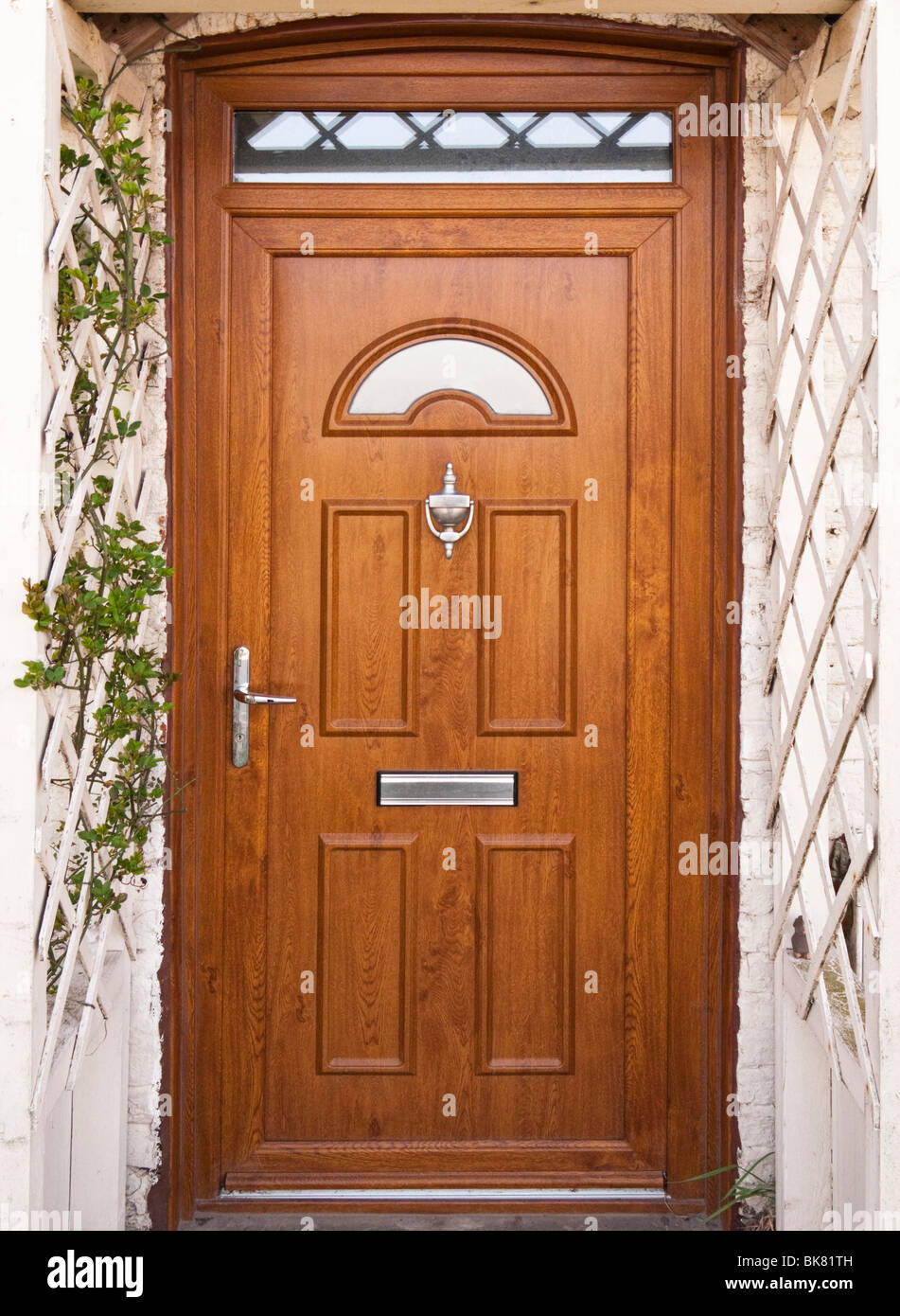 Front door with trellis work porch surround UK & Front door with trellis work porch surround UK Stock Photo: 29065921 ...