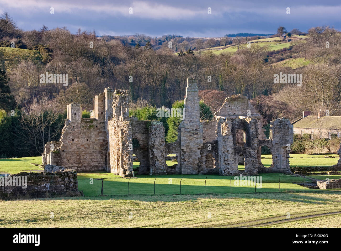 Easby Abbey near Richmond, North Yorkshire, UK - Stock Image