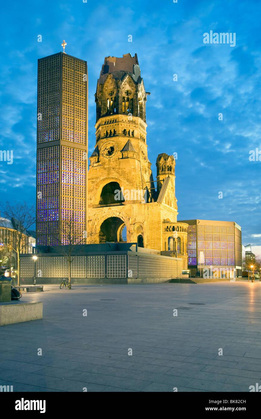 Kaiser Wilhelm Gedächtnis Kirche, Berlin, Germany - Stock Image