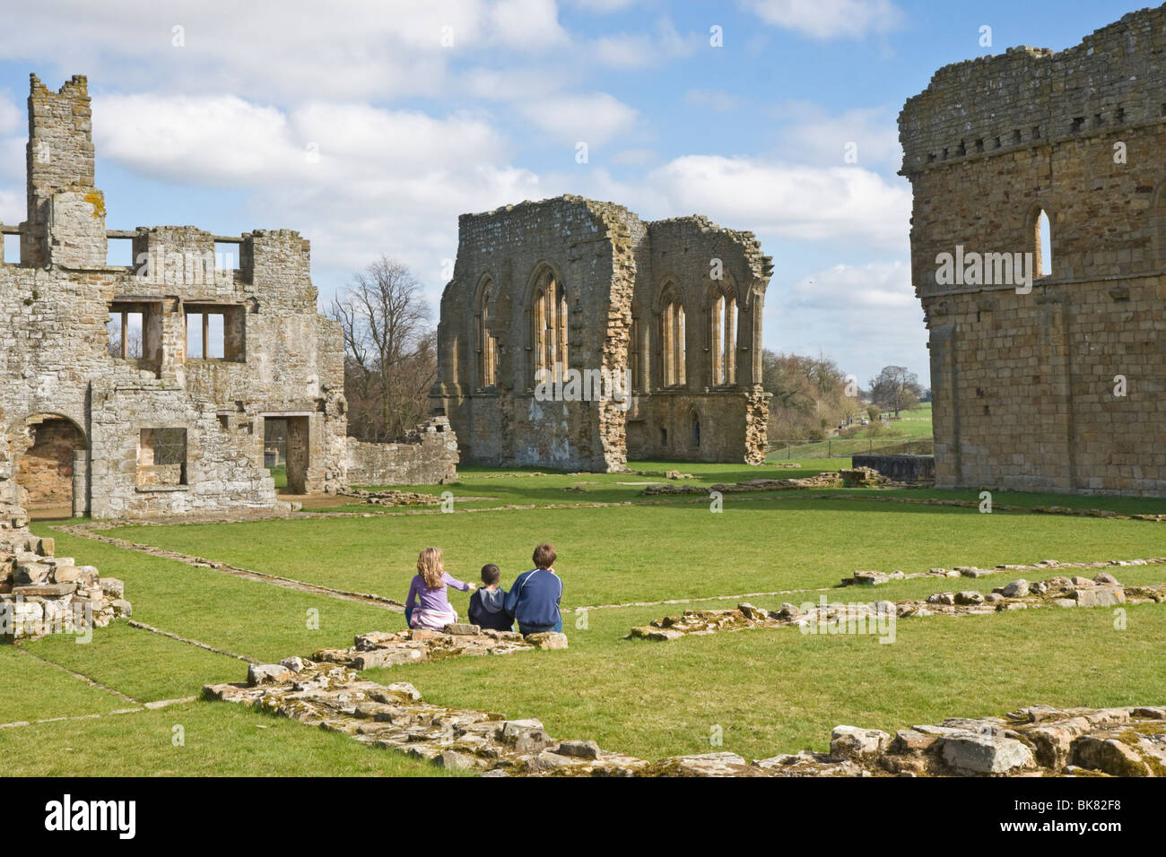 The ruins of Egglestone Abbey, Teesdale, County Durham, UK - Stock Image