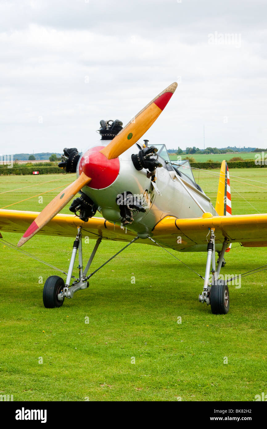 Ryan PT22 Recruit wartime US military primary trainer, now flying at the Shuttleworth Trust, Old Warden, Bedfordshire - Stock Image